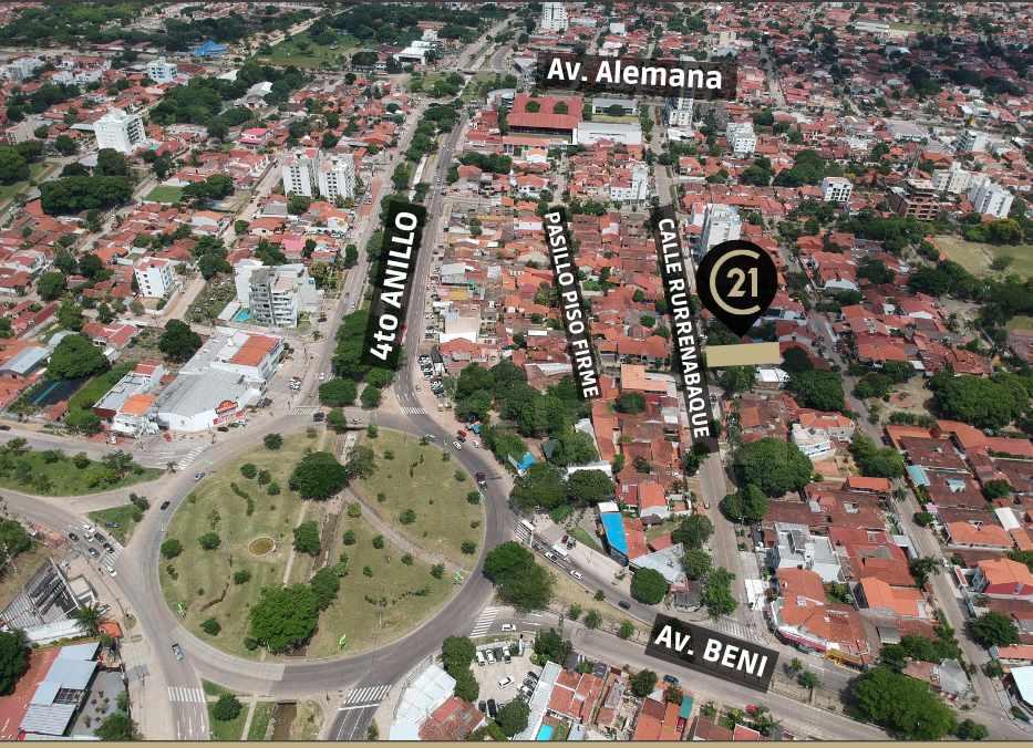 Terreno en Venta A una cuadra del 4to. anillo entre Av. Alemana y Av. Beni Foto 3